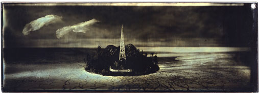 Sean Culver, Panoramic Series: Island, Gilded Mercurial Daguerreotype