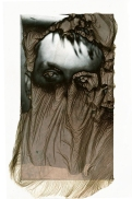 "Brittonie Fletcher, The Veil, Mordancage, 6""x 3.5"" http://www.brittoniefletcher.com"