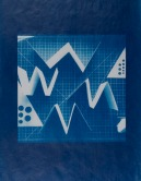 "Lindsey Beal, Commonplace Abstraction #22, Waxed cyanotype on Kozo paper, 11""x 8.5"" http://lindseybeal.net"