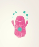 Rodolfo Marron III, Gift of the Poke Ghost, Lithograph, silkscreen. Comes with a copy of Issue #7