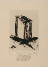 "Graeme Dearden, ""When Images of Earth Cling Too Tightly..."", Waterless lithography, 11""x 8"" http://www.graemedeardenart.com"