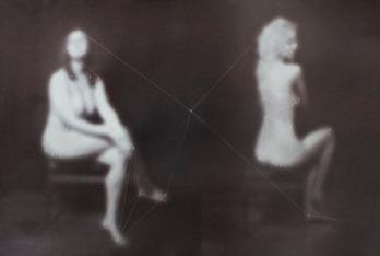 """Danielle Ezzo, Two Women, Salted paper print, 20""""x 16"""" http://www.danielleezzo.com"""