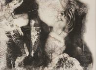 "Evey Jones, I Am Sea Glass 2, Monotype on rag paper, 16""x 20"" http://www.eveyjones.com"