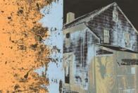 "Elizabeth Klimek, Landscape 12, Serigraph, 12""x 16.5"" http://elizabethklimek.com"