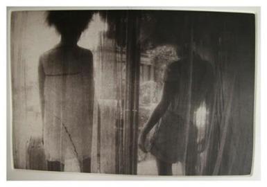 "Kaden Kratzer, Window, Copper-plate photogravure, 13""x 10"" http://kadenca.tumblr.com"
