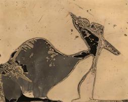 "Heather Oelklaus, Evolution Creation, Chemigram, 21""x 25"" http://www.camerakarma.com/index2.php"