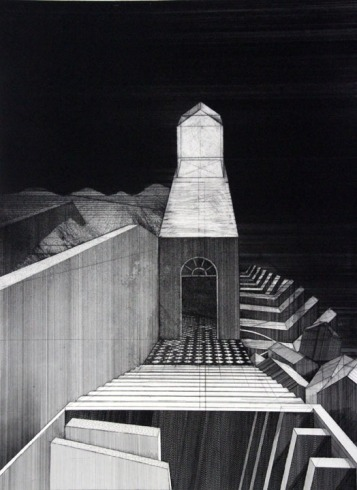 "Evan Summer, Passage, Etching and drypoint, 27""x 22"" http://evansummer.com"