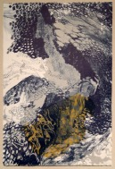 "Sarah Vosmus, Untitled, Four-run lithograph on Rives BFK and Thai Kozo, 22""x 15"" http://sarahvosmus.com"