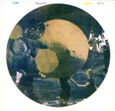 "Christine Zuercher, River Baptism (With Mars Imagery) 2, Gum Bichromate, 7""x 7"" http://www.christinezuercher.com"