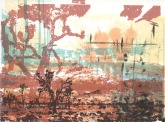 Ren Adams, Mojave (always), layered serigraph and monotype, http://www.renadamsart.com
