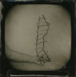 Barbara J. Dombach, Ophelia's Adversity, Wet plate collodion tintype. http://barbarajdombach.com
