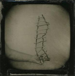 Barbara J. Dombach, Ophelia's Adversity, Wet plate collodion tintype. http://barbarajdombach.com
