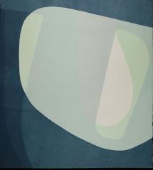 Ken Wood, Brush 24 I (Blue - Green - Grey), Relief print. http://kenwoodstudio.com